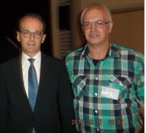 Justizminister Heiko Maas & Justiz-Opfer e.V. Vors. Thomas Repp