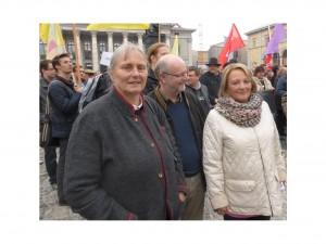 BMdJ. a.D.  Fr. S. leutheusser- Schnarrenberger mit  Justiz-Opfern