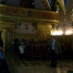 Schloß - Kirche Waldleinigen, der Prinz bei der Führung